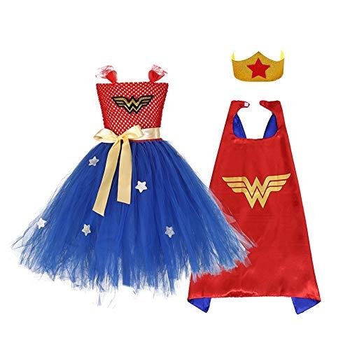 QWG Disfraces de Halloween de 3 a 10 aos, Vestido de tut para nias, Disfraz de beb Inspirado, Cosplay para nios, Navidad, Halloween para nios
