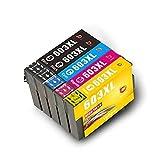 Cartuchos de Tinta bbunit 603XL compatibles con la Impresora Epson XP-3100 XP-4100 XP-2100 XP-2105 XP-3105 XP-4105, WF-2810DWF WF-2830DWF WF-2835DWF WF-2850DWF