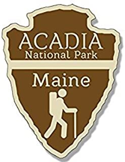 MAGNET Arrowhead Shaped ACADIA National Park MagnetMagnet(rv hiking camping) 3 x 4 inch