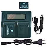 DSTE® 2 Pack Repuesto Batería DMW-BCG10E + LCD Cargador Doble Canal Compatible para Panasonic DMW-BCG10 Lumix DMC-ZS6 DMC-ZS7 DMC-ZS8 DMC-ZS9 DMC-ZS10 DMC-ZS15 DMC-ZS19 DMC-ZS20 DMC-ZS25 DMC-ZX1
