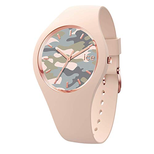 Ice-Watch - Bastogne Glam nude - Reloj rosa para Mujer con Correa de silicona - 016639 (Small)
