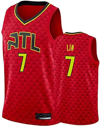 ASKI Sudadera de baloncesto Atlanta Hawks 7# para hombre, cómoda, ligera, transpirable, de malla bordada, 1, Xxl, 2 - M