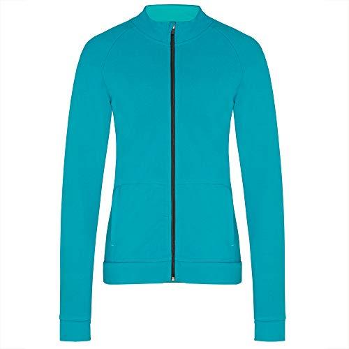 TAO Sportswear NADA Veste de Loisirs en Coton Bio pour Femme, Bleu/Vert, 48