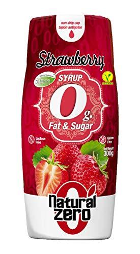 Natural Zero 0 Calorías-Sin Grasas-Sin Azúcar-300 gr Sirope Fresa, 1 Unidad