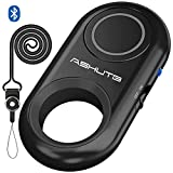 [Upgraded] Bluetooth Remote Shutter for iPhone & Android Camera Control Selfie Button for iPad iPod Tablet, HD Selfie Clicker for Photos & Videos (Black)
