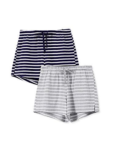 Femofit Pijamas Cortas Mujer Ropa de Dormir Camiseta con Bolsillo y...
