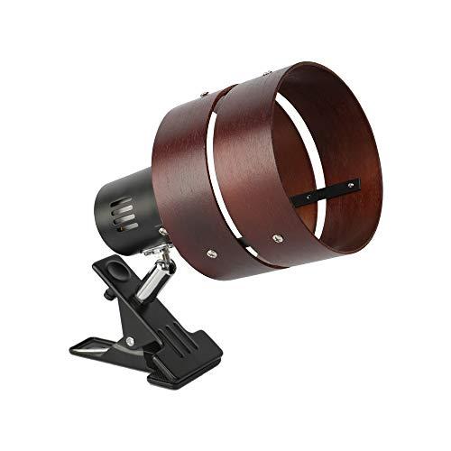 共同照明 クリップライト LEDライト E26 デスクライト ブラウン GT-TD-MQJZ-B 電気スタンド クリップ 間接照明 スイッチ付き おしゃれ コンセント式 2環ウッドシェード インテリア照明 作業ライト リビング 寝室照明 インテリアライト 電球別売り