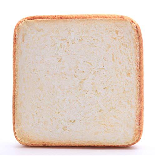 qwerbz 40 * 40cm Kreatives Geröstetes Brot Kissen Plüschtier Weiches Weißes Brot Kissen Kinder Geburtstagsgeschenk Home Bäckerei Shop Dekoration