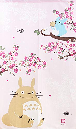 COSMOS Studio Ghibli My Neighbor Totoro Noren - Cortina japonesa (83 x 150 cm)