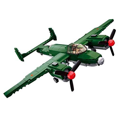 12che Combattente Minifigures Kit Aereo Giocattolo Guerra Minifigures per Bambini - (TU-2 Medium)