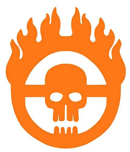Mad Max War Boys Symbol Sticker Decal Vinyl (5''x4'', Orange)