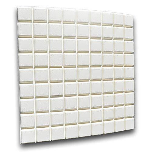 3D Ziegel Tapete Selbstklebend Wandpaneele, Stereo Wandtattoo Papier Abnehmbare selbstklebend Tapete für Schlafzimmer Wohnzimmer moderne Hintergrund TV-Decor 35 * 35cm(10pcs/20pcs)