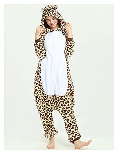 New Boys Girls Adult Unicorns Onesie Dibujos Animados Pijamas Franel Family Party Pumpsuits Homewear Traje Trajes Shar Pei Dog Onesies (Color : Leopard Bear, Size : S (Height 148 158CM))