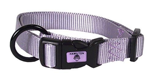Hamilton Adjustable Nylon Dog Collar, Lavender, 3/4' x 16-22'