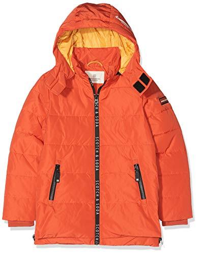 Scotch & Soda Jungen Jacket with Printed Zippers and Detachable Hood Jacke, Orange (Burnt Orange 2016), 152 (Herstellergröße: 12)