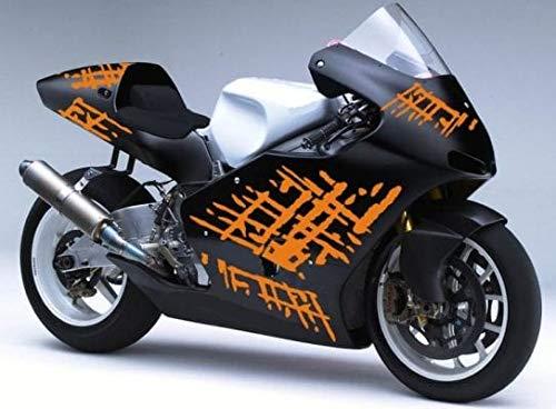 SUPERSTICKI Dekor Set Splash Motorrad Aufkleber Bike Auto Racing Tuning aus Hochleistungsfolie Aufkleber Autoaufkleber Tuningaufkleber Hochleistungsfolie für alle glatten Flächen UV und was