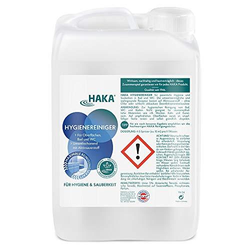 HAKA Hygienereiniger I 3 l Nachfüllkanister I Reiniger für Küche, Bad und Haushalt I Reinigung für WC, Kühlschrank und Böden