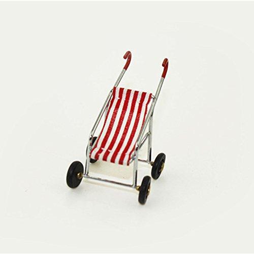 YOSEMITE Simulation Creativity 1/12 casa de muñecas miniatura cochecito de bebé modelo de simulación juego guardería juguetes niños carro de bebé