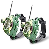 Walkie Talkies Watch, Spy Watch Army Toys for Kids Age 8-12, 7 in 1 Digital Watch Walkie Talkies, Two-Way Long Range Transceiver with Flashlight, Cool Spy Gadgets Christmas Gifts for Boy Girls