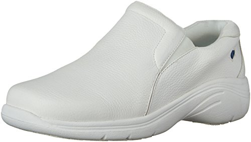 Nurse Mates Womens Dove Oxford, White, 9 Wide