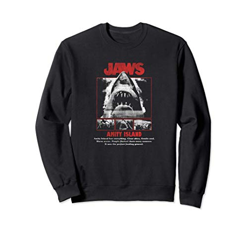Jaws Poster Pop Red & White Sweatshirt