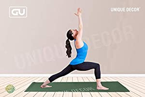 Unique Decor® Large Exercise Women and Men Yoga mat- 6mm with Anti Slip and Sports, Fitness & Outdoors, Exercise Workout...