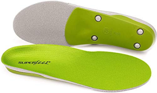 Superfeet unisex-adult GREEN Professional-Grade High Arch Orthotic Shoe Inserts for Maximum Support Insole, 12.5-15