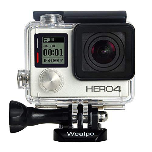 Wealpe Wasserdichtes Gehäuse Tauchgehäuse Schutzgehäuse Kompatibel mit GoPro Hero 4, 3+, 3 Kameras