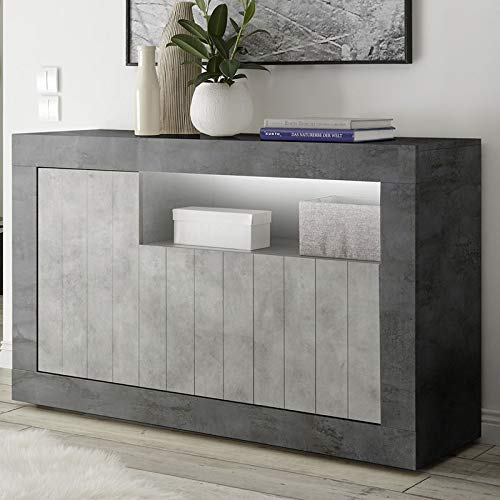 Kleine dressoir 140 cm grijs beton-effect Modern Urban 8