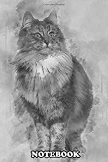 Notebook: Norwegian Forest Cat 1 And A Half Years Old Standing Ag , Journal for Writing, College Ruled Size 6