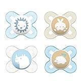 MAM Chupetes de silicona Skin Soft para recién nacidos y prematuros extra...