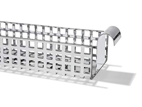 Adam Wieland Kabelkanal für Tischgestell E2, Kabelführung für den Schreibtisch (9,5 x 5,0 x 132,0 cm), Kabelhalterung inklusive Schrauben, verchromt