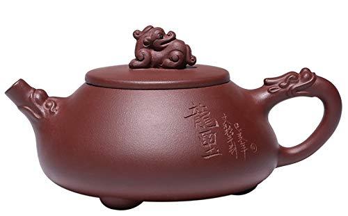 Erts Paarse Klei Theepot Steen Scoop Pot Pure Hand-Theepot Huishoudelijke Producten/Zoals Getoond/250ml