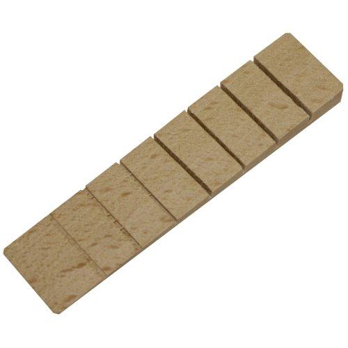 20x Richel® Möbelkeile/Unterlegkeile/Ausgleichskeile aus Holz mit 7 Soll-Bruchstellen | Farbe: natur