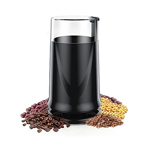 Kaffeemühle Elektrische, Kaffeemühle mit Edelstahlklinge 200W Motor 50g Kapazität 50dB Geräuscharme Burr Mühle Maschine für Kaffeebohnen Getreidegewürze Nüsse Haus & Büro