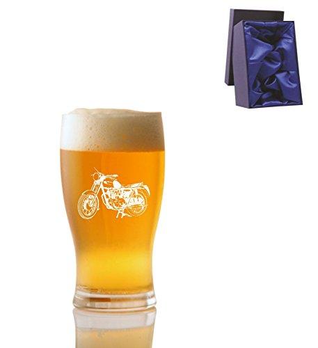 1 Pint Tulp Bierglas met Generic Bike Design en Luxe Presentatie Box