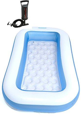 Anokhichaabi Anokhichaabi Combo-Intex 6 Ft Inflatable Bath Tub with Pump (Blue)