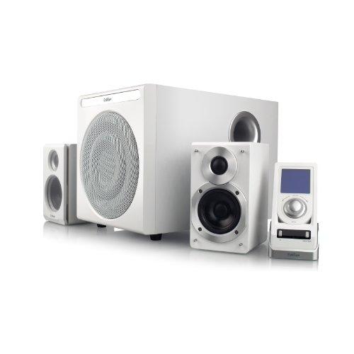 EDIFIER S530D 2.1 Lautsprechersystem (145 Watt) mit Infrarot-Fernbedienung und kabelgebundenem Controller, weiß