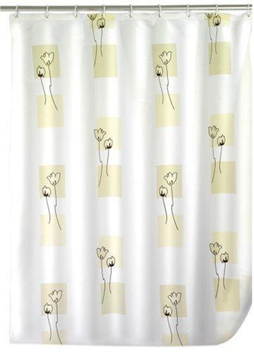 WENKO 19168100 Duschvorhang Tulip - hochwertiges Textilgewebe, 240 x 180 cm