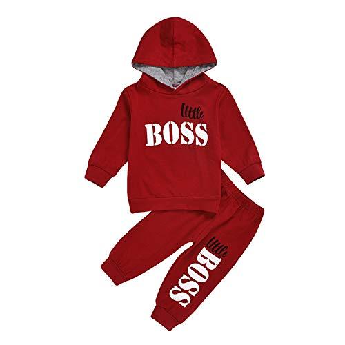 NROCF Junge Outfits Set, Baby-Kleidung Für Kinder Kleidung Kleinkind Kind Jogging-Beiläufigen Sport-Klage-Kind-Kind-Klagen,Rot,120