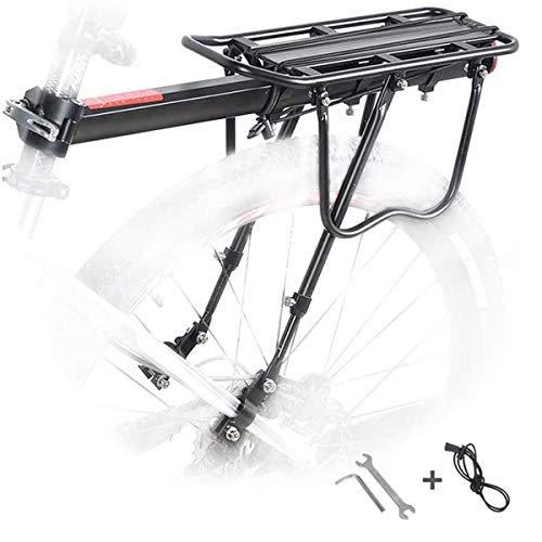 Bicicleta Portaequipajes,Ajustable Bicicleta Montaje Al Cuadro,portabicicletas De Aleación De Aluminio con Guardabarros,Alforjas De 70 Kg (B)