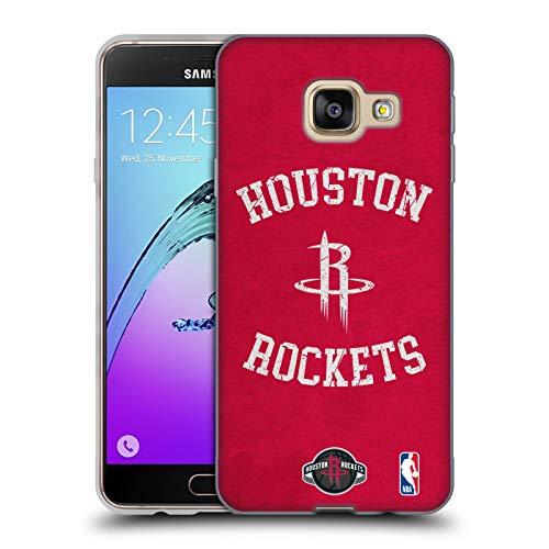 Head Case Designs Ufficiale NBA Aspetto Sdrucito 2019/20 Houston Rockets Cover in Morbido Gel Compatibile con Samsung Galaxy A3 (2016)