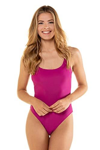 GINA LAURA Damen Badeanzug, Trendfarbe, Vorderfutter Magenta S 725585 55-S
