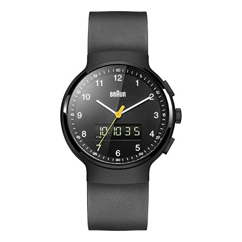 Braun Men's BN0159BKBKG Analog-Digital Display Japanese Quartz Black Watch