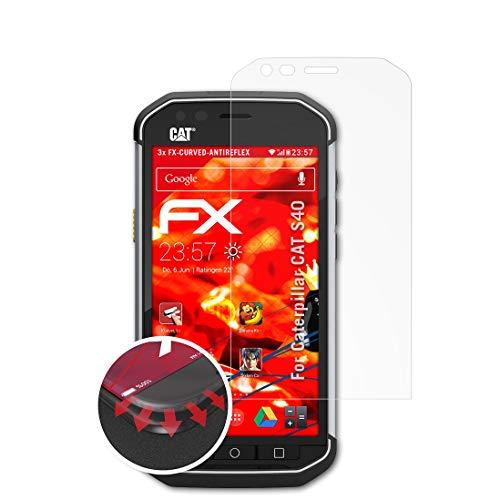 atFolix Schutzfolie kompatibel mit Caterpillar CAT S40 Folie, entspiegelnde & Flexible FX Bildschirmschutzfolie (3X)