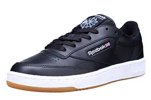 Reebok Club C 85, Scarpe da Fitness Unisex-Adulto, Nero (INT/Black/White/Gum 000), 38.5 EU