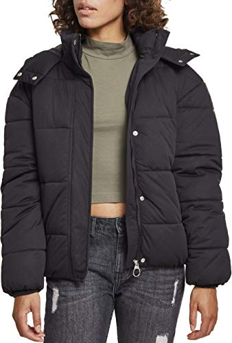 Urban Classics Damen Daunenjacke Winterjacke Ladies Boyfriend Puffer Jacket Jacke, black, 3XL