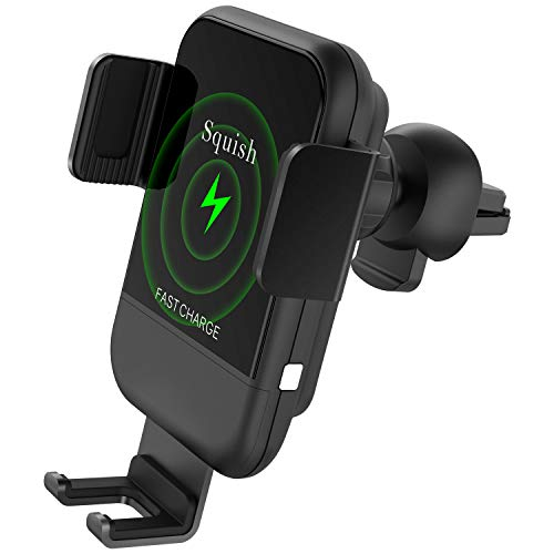 Squish Wireless Car Charger Mount, 10W 7.5W Qi Fast Wireless Charger Car...