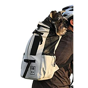 K9 Sport Sack   Dog Carrier Backpack for Small and Medium Pets   Front Facing Adjustable Dog Backpack Carrier   Fully Ventilated   Veterinarian Approved (Medium, Air – Charcoal Grey)