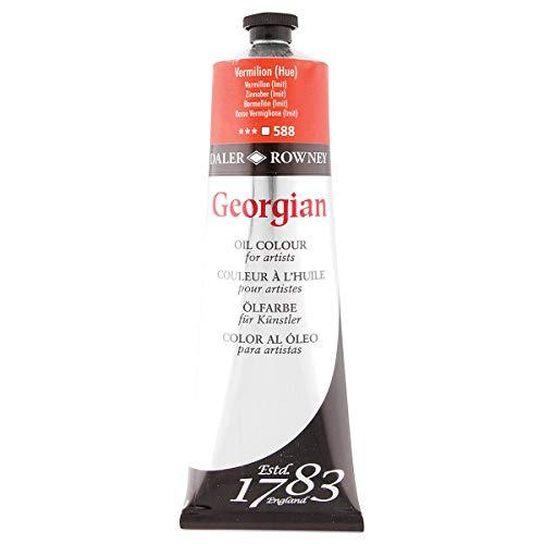 Daler Rowney Georgian - Pintura al óleo - magníficos colores - 225 ml - Rojo bermellón